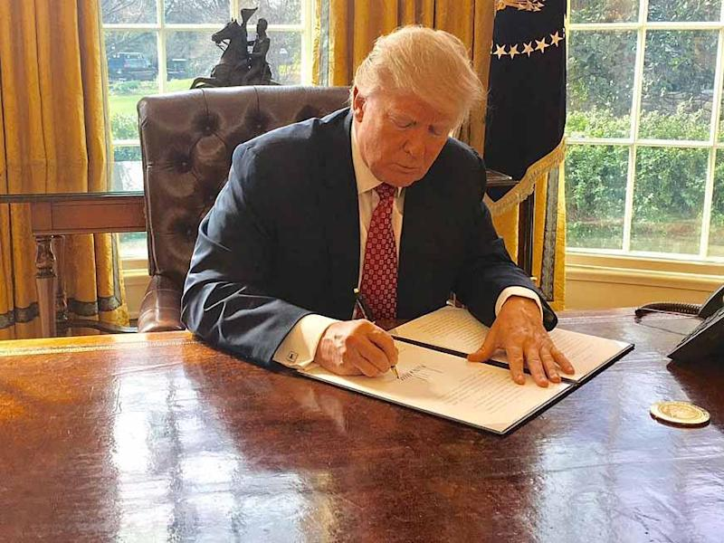 Donald Trump signed the new executive order after the first was blocked by the courts