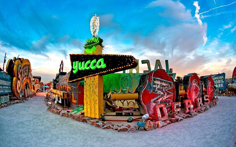 There's so much to see and do in Vegas – from seeing vintage neon signage (above) to trying your hand at the blackjack table