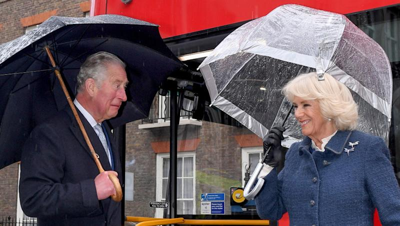 Prince Charles and his wife, Camilla, (pictured on March 4) will remain separate despite the future king being cleared to leave quarantine. Photo: Getty Images.