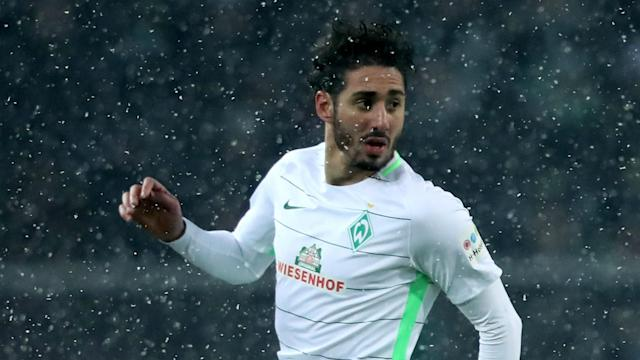 The Algeria international produced a commanding display in Saturday's Bundesliga game as Florian Kohfeldt's side extended their unbeaten to four games
