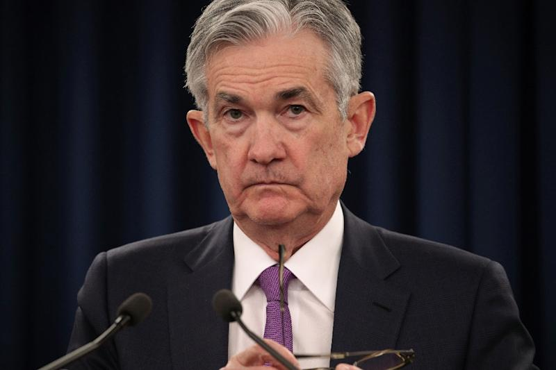 The minutes recounted a meeting that had occured before this month's deterioration in trade talks with China. Fed Chairman Jerome Powell addresses the media in January 2019