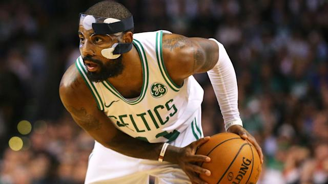 Kyrie Irving is averaging 23.7 points per game in his first season with the Boston Celtics but will be absent against the Chicago Bulls.