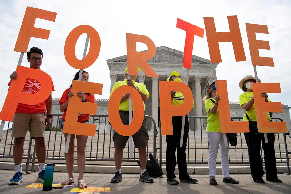 FOR THE PEOPLE ACT - Credit: Caroline Brehman/CQ Roll/AP