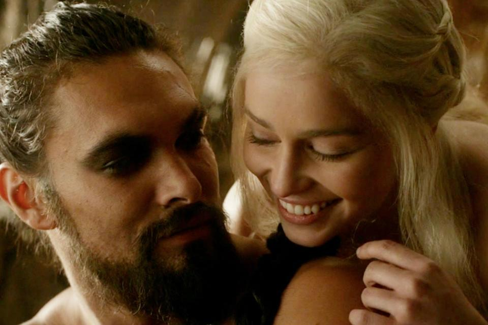 Daenerys and Khal Drogo take the Iron Throne - in the show's alternate timeline, at leastHBO