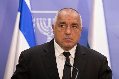 Bulgarian Prime Minister Boyko Borissov is seen during a meeting with Israeli Prime Minister Benjamin Netanyahu at the prime minister's office in Jerusalem, June 13, 2018. Abir Sultan/Pool via Reuters