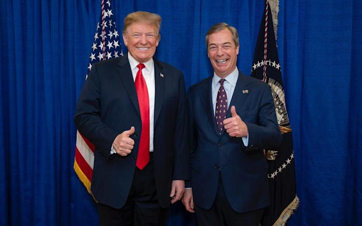 Nigel Farage meets Donald Trump - Official White House Photo by Tia Dufour