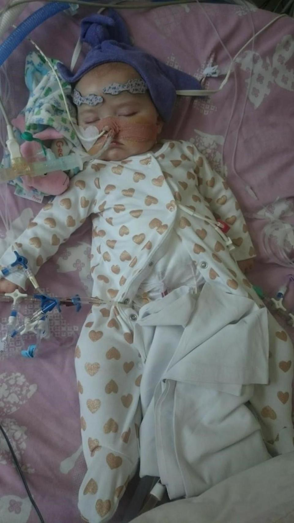 Grace Westwood is being treated at the Freeman Hospital in Newcastle (Newcastle Hospitals NHS Foundation Trust)