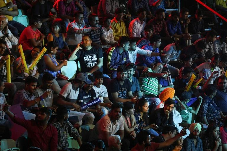Huge following: Spectators pack the stands to watch Telugu Titans and Puneri Paltan in the Pro Kabaddi League in New Delhi