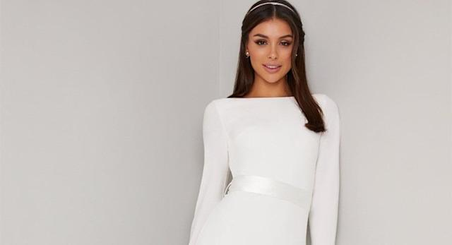 A budget wedding dress brand is selling an almost identical version of Meghan Markle's Givenchy gown [Image: Chi Chi London]