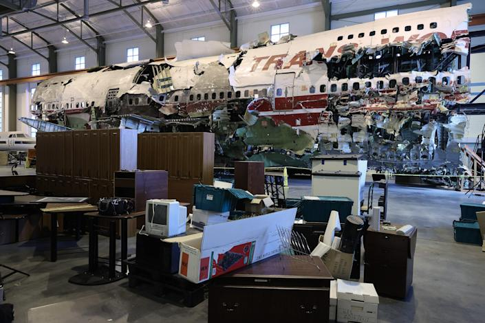 95 per cent of the plane was recovered from the Atlantic Ocean in the ten months after the crash (Getty Images)