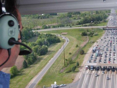 memorial day traffic helicopter