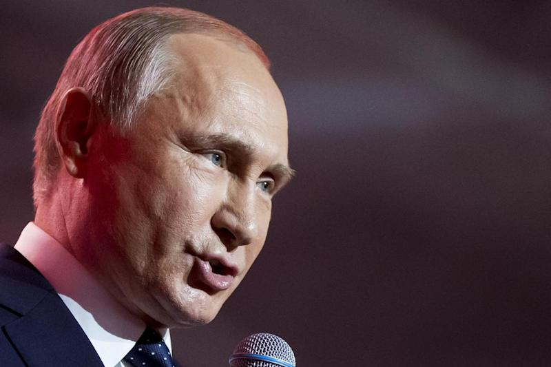 PR opportunity: Russian President Vladimir Putin is expected to use the World Cup to promote his country (EPA)