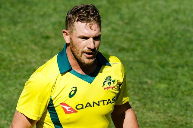 The aggressive Aaron Finch, better known for his exploits in the shorter form of the game, was included in the Test squad and is tipped to open the batting against Pakistan (AFP Photo/Jekesai NJIKIZANA)