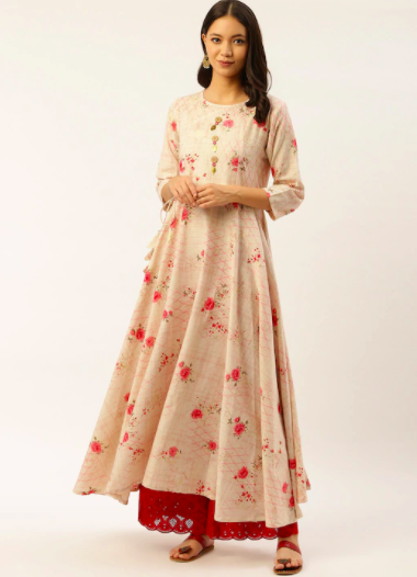 Shraddha Kapoor's floral anarkali look is perfect for festive season
