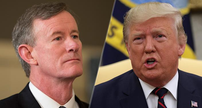 Admiral William McRaven and President Trump. (Photos: Robert Daemmrich Photography Inc/Corbis via Getty Images, Alex Wong/Getty Images)