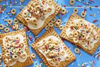 """<p>Think of these Honey Nut Cheerios turnovers as the adult version of Pop-Tarts, but better. Honey and raspberry preserves add to the tastiness of the beloved cereal.</p><p><strong><a href=""""https://www.countryliving.com/food-drinks/recipes/a46339/honey-nut-cheerio-turnovers-recipe/"""" rel=""""nofollow noopener"""" target=""""_blank"""" data-ylk=""""slk:Get the recipe"""" class=""""link rapid-noclick-resp"""">Get the recipe</a>.</strong></p><p><a class=""""link rapid-noclick-resp"""" href=""""https://www.amazon.com/Home-table-folding-breakfast-Bamboo/dp/B00PHS97EU/?tag=syn-yahoo-20&ascsubtag=%5Bartid%7C10050.g.1681%5Bsrc%7Cyahoo-us"""" rel=""""nofollow noopener"""" target=""""_blank"""" data-ylk=""""slk:SHOP BREAKFAST TRAYS"""">SHOP BREAKFAST TRAYS</a></p>"""