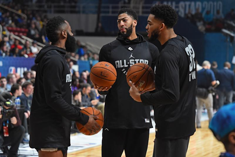 Anthony Davis is expected to play for Team LeBron at the All-Star Game.  (Getty) d3e37affb