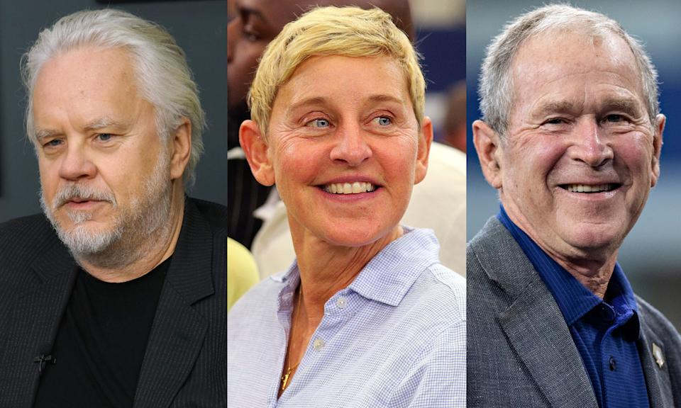 """Tim Robbins says the friendship between Ellen DeGeneres and George W. Bush """"is not cute."""" (Photo: Getty Images)"""