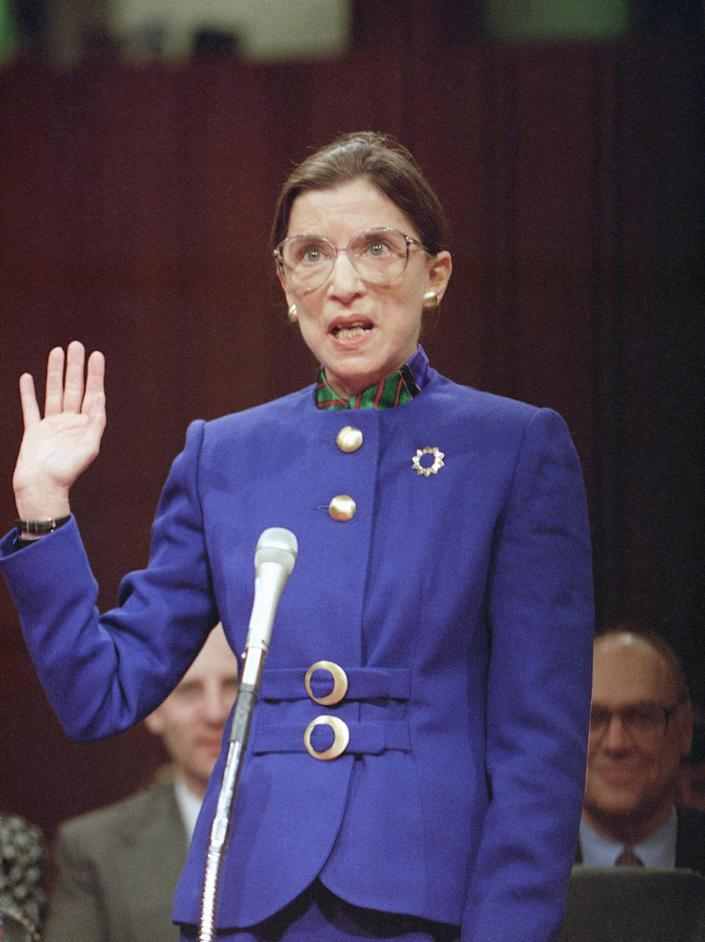27 years ago, Ginsburg was sworn into her confirmation hearing of the Senate Judiciary Committee on Capitol Hill on July 20, 1993. Ginsburg told the committee that while she rose