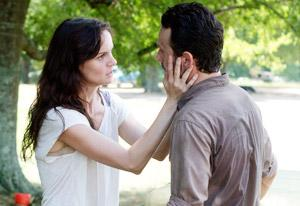 Sarah Wayne Callies and Andrew Lincoln | Photo Credits: Gene Page/AMC