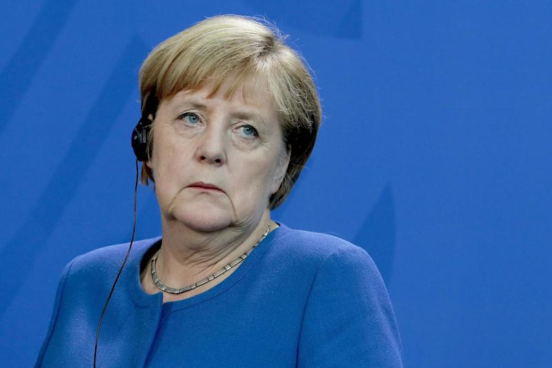 Leave.EU has apologised after calling German Chancellor Angela Merkel a 'Kraut': AP