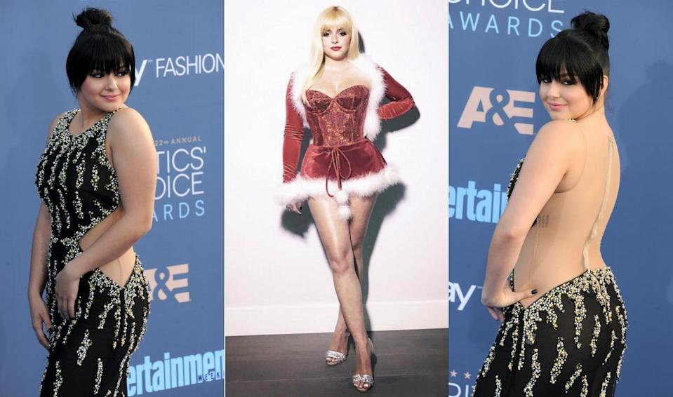 <p>Ariel Winter is giving us all sorts of hair (and body) goals! Getting in tune with the Christmas spirit, the curvy Modern Family beauty shared an Instagram pic of her channeling a sexy Mrs Claus, with a fringe and gorgeous blonde locks. Two days later, the starlet donned sultry, dark-as-night bangs and a cute topknot at the Critics Choice awards. What do you think of her latest 'dos? Click through the gallery to see other major celebrity hair transformations of 2016! <i> (Photos: Getty/Instagram/December 2016.) </i> </p>