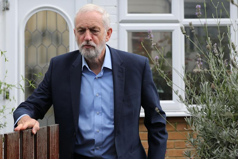 Britain's opposition Labour party leader Jeremy Corbyn leaves his home in north London on September 5, 2019. - Britain geared up for an early election on Thursday after parliament dealt a series of stinging defeats to Prime Minister Boris Johnson's hardline Brexit stance. (Photo by ISABEL INFANTES / AFP) (Photo credit should read ISABEL INFANTES/AFP/Getty Images)