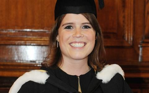 Princess Eugenie attending her graduation ceremony at Newcastle University - Credit: Owen Humphreys /PA