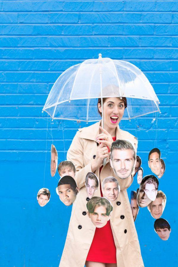 """<p>Move aside, Weather Girls! This costume lets you take center stage at any Halloween party—and you can customize the heartthrob photos to your liking too.</p><p><strong>Get the tutorial at <a href=""""https://studiodiy.com/2016/10/18/diy-raining-men-costume/"""" rel=""""nofollow noopener"""" target=""""_blank"""" data-ylk=""""slk:Studio DIY"""" class=""""link rapid-noclick-resp"""">Studio DIY</a>.</strong></p><p><strong><a class=""""link rapid-noclick-resp"""" href=""""https://www.amazon.com/totes-Womens-Clear-Bubble-Umbrella/dp/B01L9DKZ1A?tag=syn-yahoo-20&ascsubtag=%5Bartid%7C10050.g.4571%5Bsrc%7Cyahoo-us"""" rel=""""nofollow noopener"""" target=""""_blank"""" data-ylk=""""slk:SHOP CLEAR UMBRELLAS"""">SHOP CLEAR UMBRELLAS</a><br></strong></p>"""