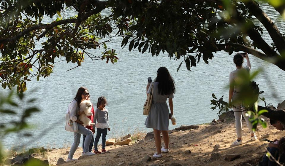 People enjoy a day out at Shing Mun Reservoir. Photo: Dickson Lee