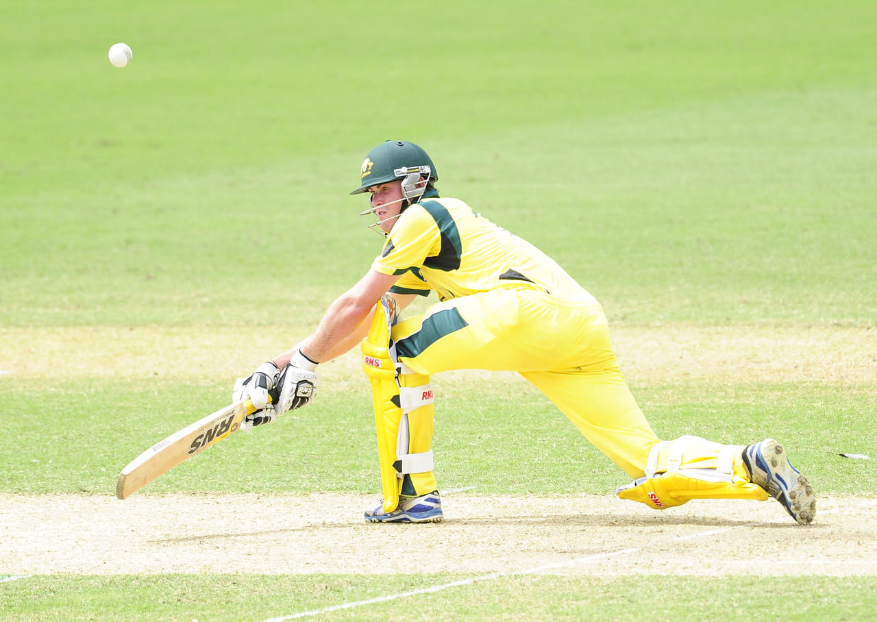 TOWNSVILLE, AUSTRALIA - AUGUST 26:  Ashton Turner of Australia bats during the 2012 ICC U19 Cricket World Cup Final between Australia and India at Tony Ireland Stadium on August 26, 2012 in Townsville, Australia.  (Photo by Ian Hitchcock-ICC/Getty Images)