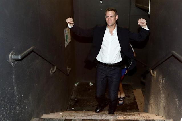 Cubs president Theo Theo Epstein celebrates the franchise's first championship in 108 years. (Getty Images)