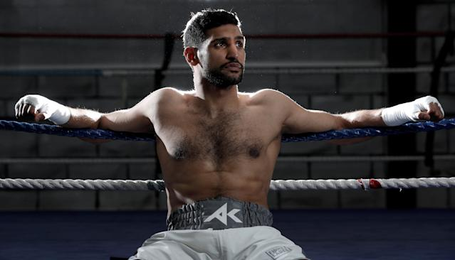 Boxing - Amir Khan Preview ahead of return against Phil Lo Greco - Amir Khan Academy, Bolton, Britain - April 18, 2018 Amir Khan poses during a photo shoot Action Images via Reuters/Andrew Couldridge