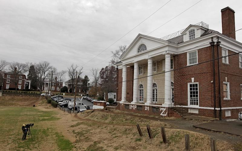 The Phi Kappa Psi fraternity house is seen on the University of Virginia campus on December 6, 2014 in Charlottesville, Virginia (AFP Photo/Jay Paul)