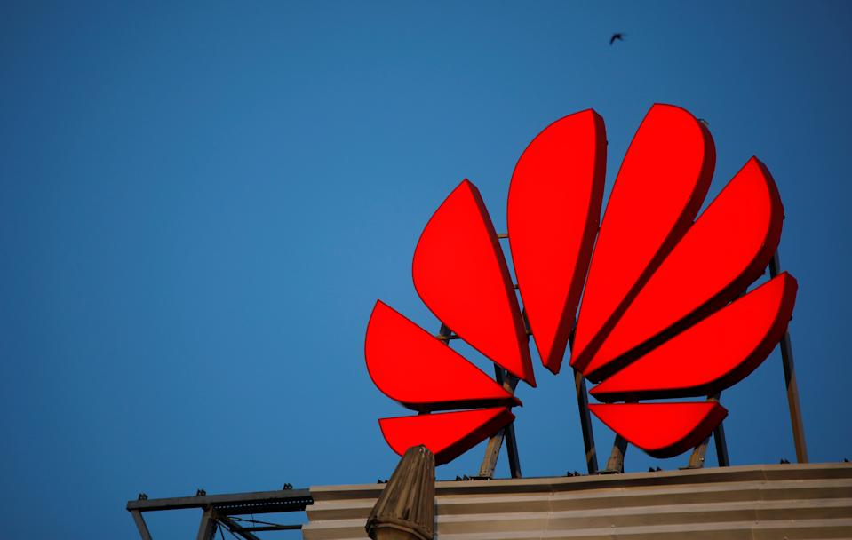 The Huawei logo is pictured in central Warsaw, Poland, June 17, 2019. Picture taken June 17, 2019. To match Special Report HUAWEI-POLAND/SPYING  REUTERS/Kacper Pempel
