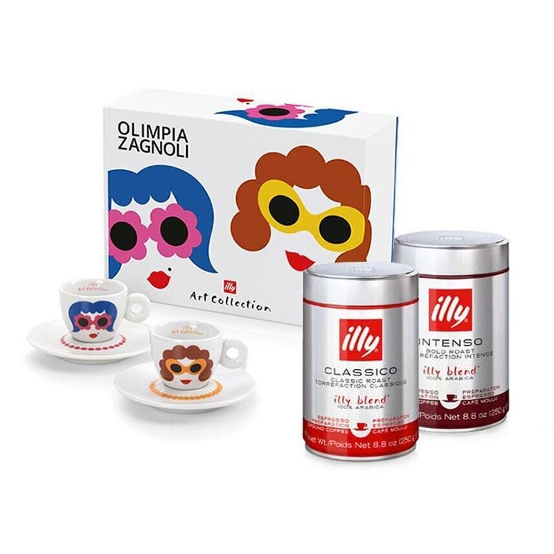 "Gift the espresso fiend this cheery bundle that will brighten their mornings with cute, colorful ladies—who are sporting bubbly eyewear we kind of want to wear IRL. $90, Illy. <a href=""https://www.illy.com/en-us/shop/coffee/bundled-sets/beauty-in-a-cup-espresso-bundle/D009.html"" rel=""nofollow noopener"" target=""_blank"" data-ylk=""slk:Get it now!"" class=""link rapid-noclick-resp"">Get it now!</a>"