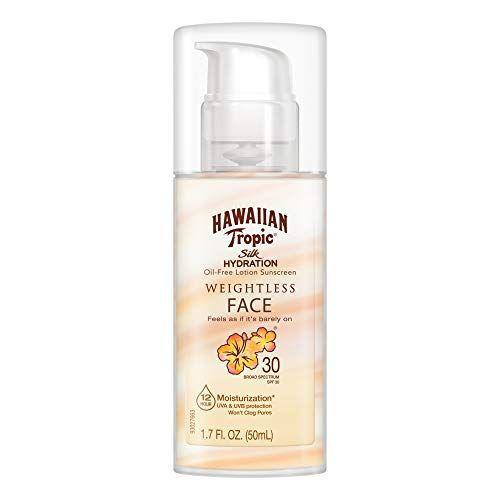 """<p><strong>Hawaiian Tropic</strong></p><p>amazon.com</p><p><strong>$7.99</strong></p><p><a href=""""https://www.amazon.com/dp/B00FLRHYCE?tag=syn-yahoo-20&ascsubtag=%5Bartid%7C10055.g.2487%5Bsrc%7Cyahoo-us"""" rel=""""nofollow noopener"""" target=""""_blank"""" data-ylk=""""slk:Shop Now"""" class=""""link rapid-noclick-resp"""">Shop Now</a></p><p>This Hawaiian Tropic sunscreen is a GH Beauty Lab test winner for normal and combination skin. Testers found it provided just """"enough moisture"""" but """"virtually no film, whiteness, oil or tackiness."""" The cream also <strong>imparted a """"velvety, matte"""" finish to combination skin</strong>.</p>"""