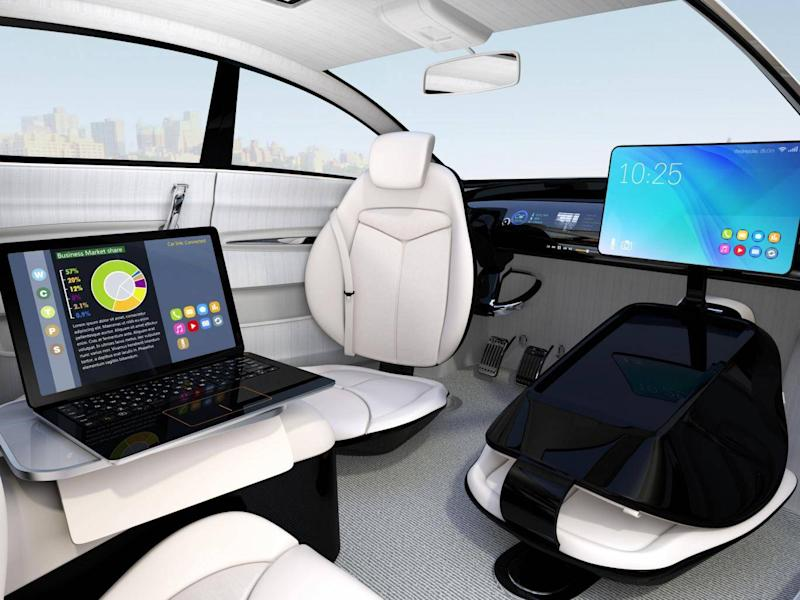 A new work style concept in driverless cars (Shutterstock)