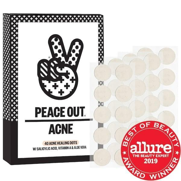 """<p>Not only do these <span>Peace Out Salicylic Acid Acne Healing Dots</span> ($19-$32) have more than 1,700 five-star reviews from Sephora shoppers, <a href=""""https://www.popsugar.com/beauty/Peace-Out-Acne-Healing-Dots-Review-46087685"""" class=""""link rapid-noclick-resp"""" rel=""""nofollow noopener"""" target=""""_blank"""" data-ylk=""""slk:POPSUGAR editors love them"""">POPSUGAR editors love them</a>, too. Each patch features salicylic acid - along with soothing aloe vera - to penetrate pores overnight (or under a protective mask) and reduce blemish size and redness.</p>"""