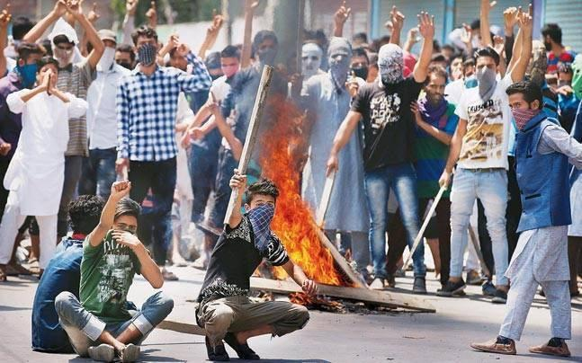 Students' stages protest in different parts of Kashmir, clashes with police