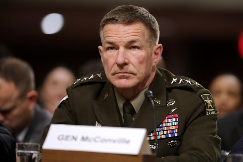 Army Chief of Staff Gen. James McConville testifies before the Senate Armed Services Committee in the Dirksen Senate Office Building on Capitol Hill December 03, 2019 in Washington, DC. (Chip Somodevilla/Getty Images)