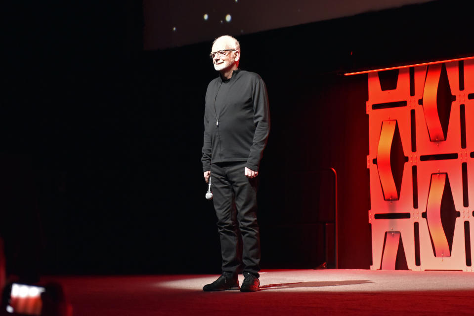 Ian McDiarmid at the 'Star Wars: The Rise Of Skywalker' panel at Star Wars Celebration (Photo by Rob Grabowski/Invision/AP)