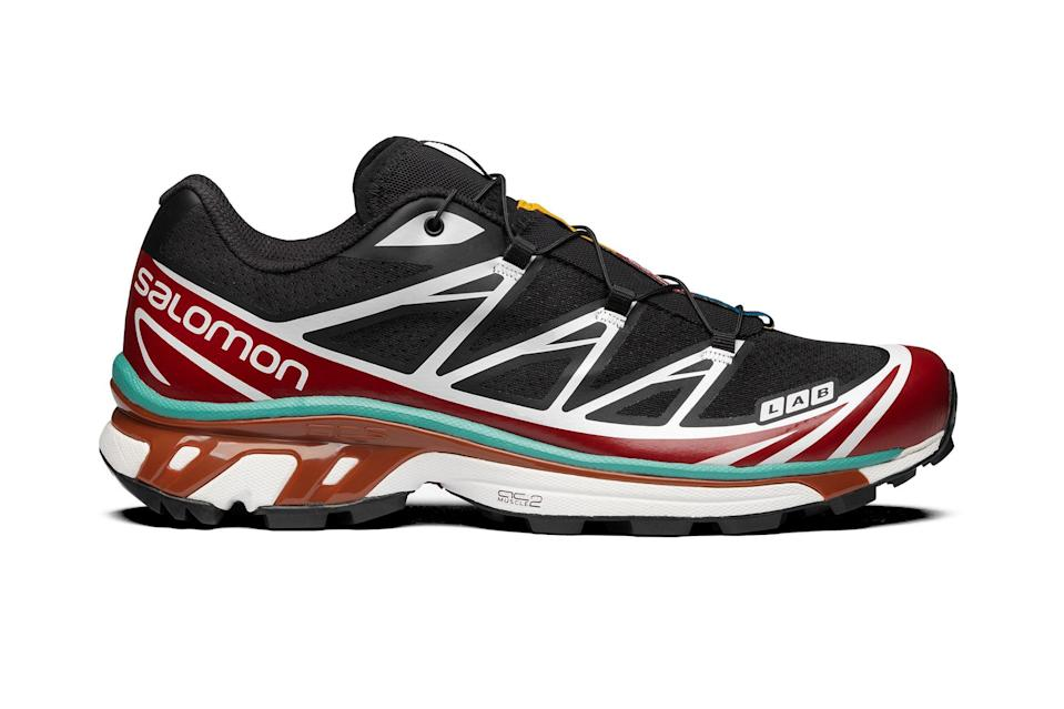 """Our favorite sneaker of 2019 still looks as fire as ever— tough enough for the trail, flashy enough for the streets—a full two years later.<br> <br> <em>Salomon XT-6 sneaker</em> $220, Salomon. <a href=""""https://www.salomon.com/en-us/shop/product/xt-6-adv.html#color=23557"""" rel=""""nofollow noopener"""" target=""""_blank"""" data-ylk=""""slk:Get it now!"""" class=""""link rapid-noclick-resp"""">Get it now!</a>"""