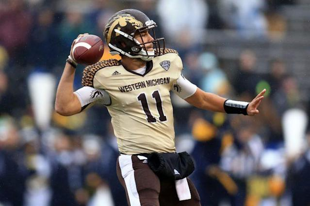 Western Michigan is undefeated at 7-0 thanks in part to QB Zach Terrell, who has yet to throw an interception. (Getty)