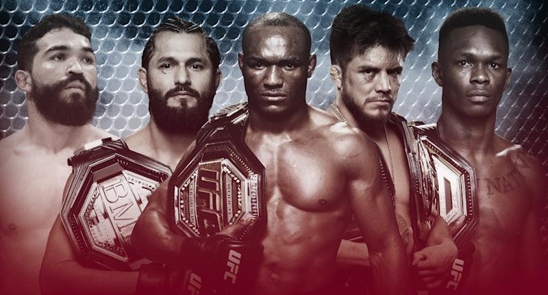 Patricio Freire, Jorge Masvidal, Kamaru Usman, Henry Cejudo and Israel Adesanya top Yahoo Sports' list of 2019's best MMA fighters.
