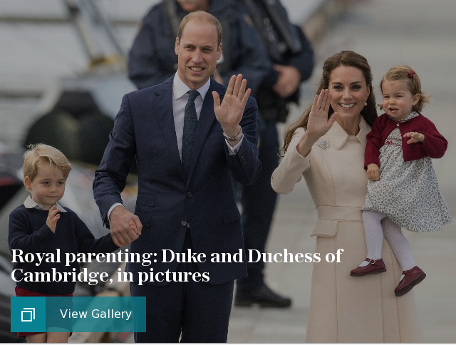 Royal parenting: Duke and Duchess of Cambridge, in pictures
