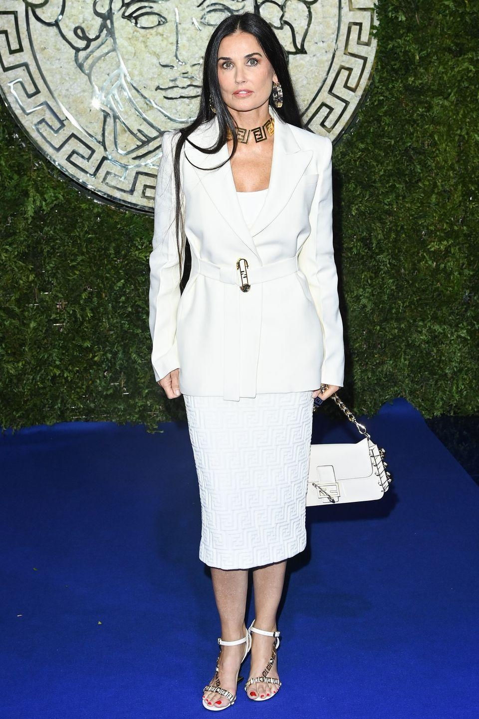 <p><strong>26 September</strong></p><p>Demi Moore wore head-to-toe white for the special show.</p>