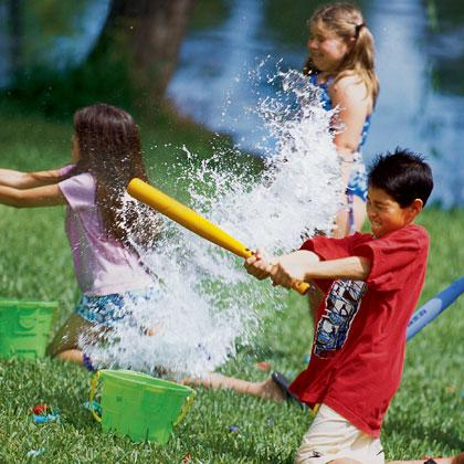 "<div class=""caption-credit""> Photo by: FamilyFun.go.com</div><div class=""caption-title""></div><p>   <b>Splash and Score</b> </p> <p>   Kids can test their aim and douse their opponent at the same time with this water balloon game of throwing and blocking skills. </p><a rel=""nofollow"" href=""http://familyfun.go.com/playtime/splash-and-score-707834/?cmp=ELP