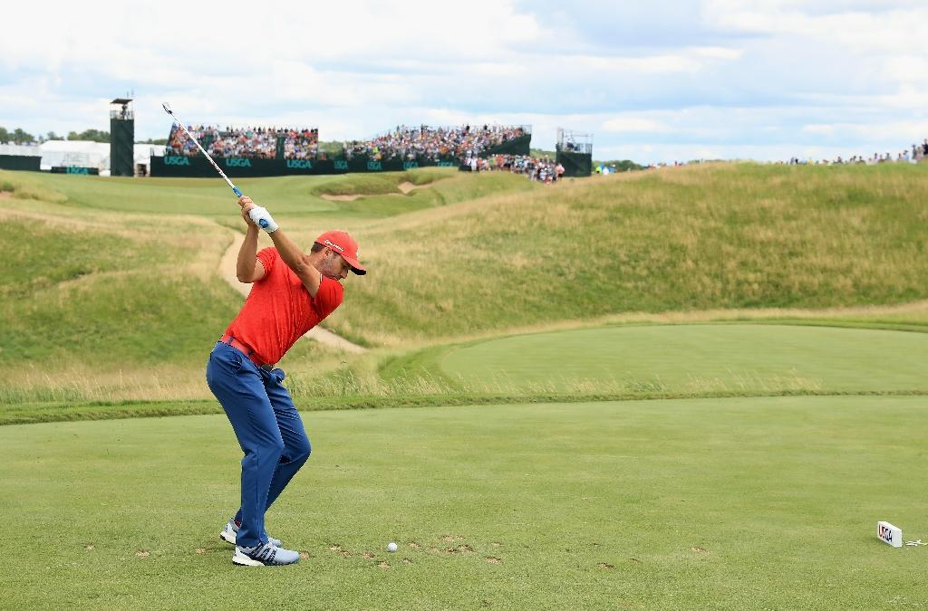 Sergio Garcia of Spain plays his shot from the sixth tee during the final round of the 2017 U.S. Open at Erin Hills on June 18, 2017 in Hartford, Wisconsin (AFP Photo/Andrew Redington)