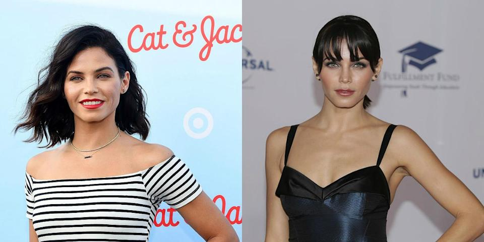<p>Jenna is giving everyone some serious 1990s Helena Christensen supermodel vibes with those faux bangs she debuted in October. <i> (Photos: Getty/October 2016) </i> </p>